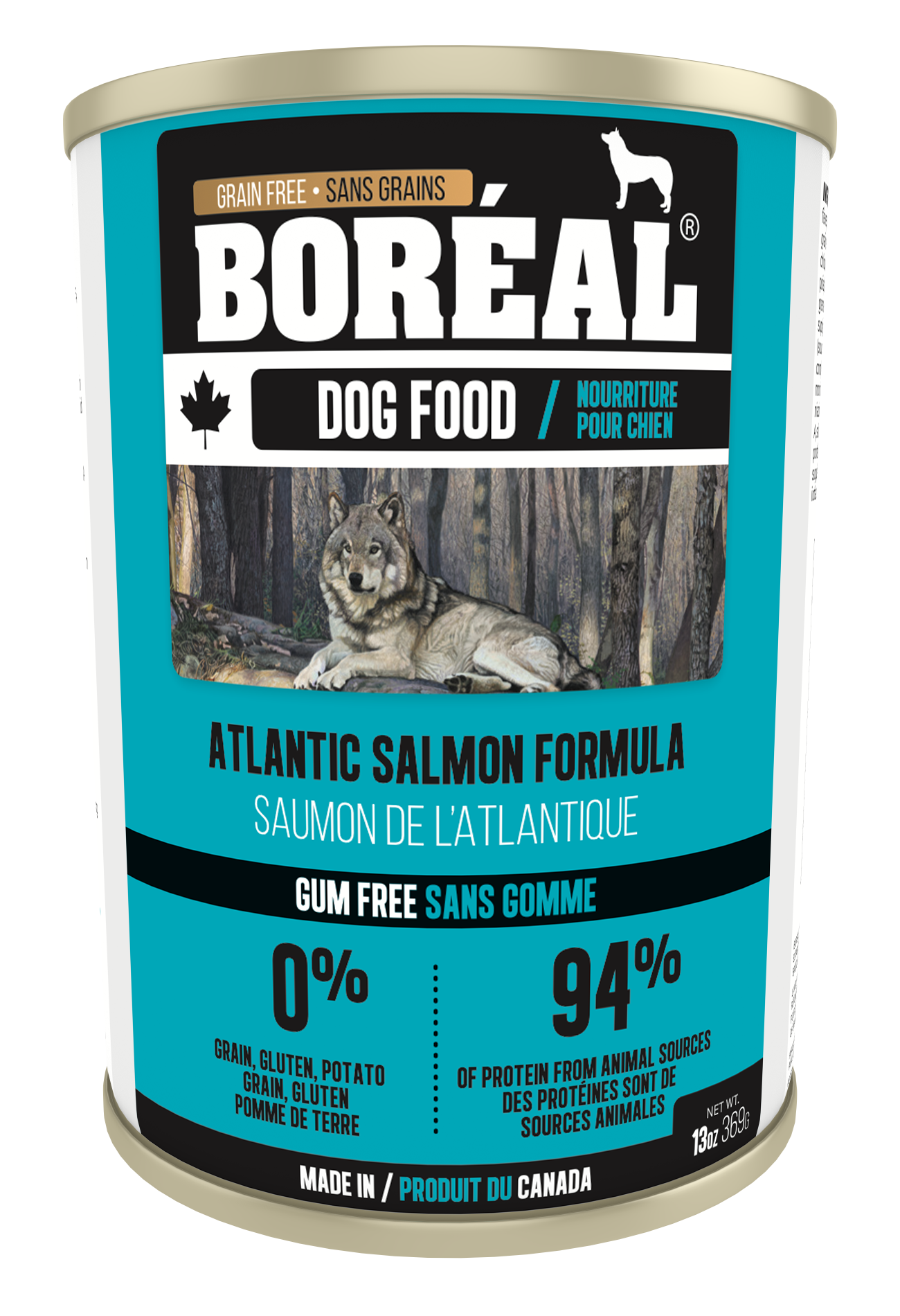 Boreal Grain-Free Canadian Atlantic Salmon Formula Canned Dog Food, 369g can