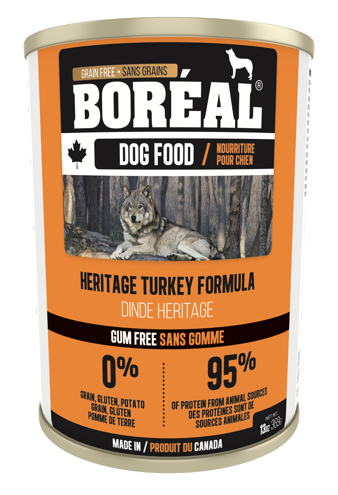 Boreal Grain-Free Canadian Heritage Turkey Formula Canned Dog Food, 369g can