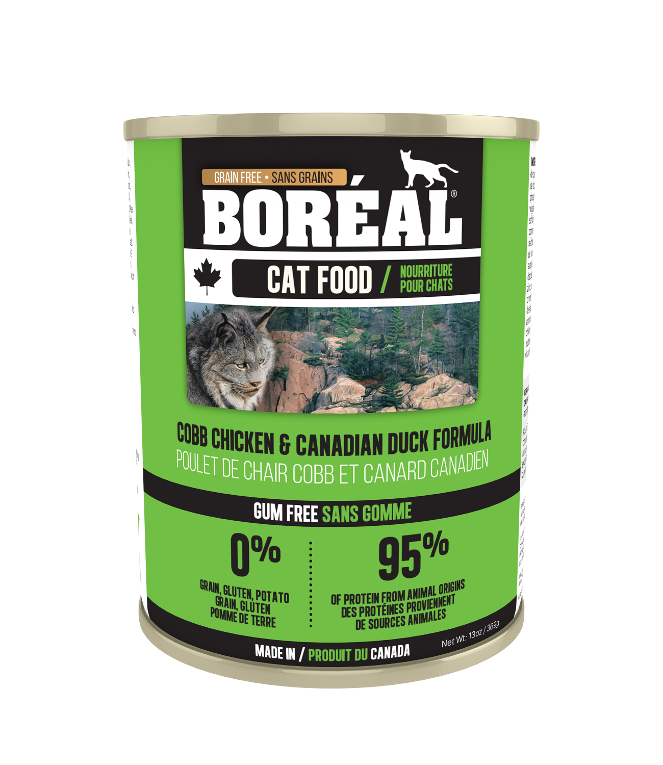 Boreal Cobb Chicken and Canadian Duck Grain-Free Canned Cat Food, 156g can