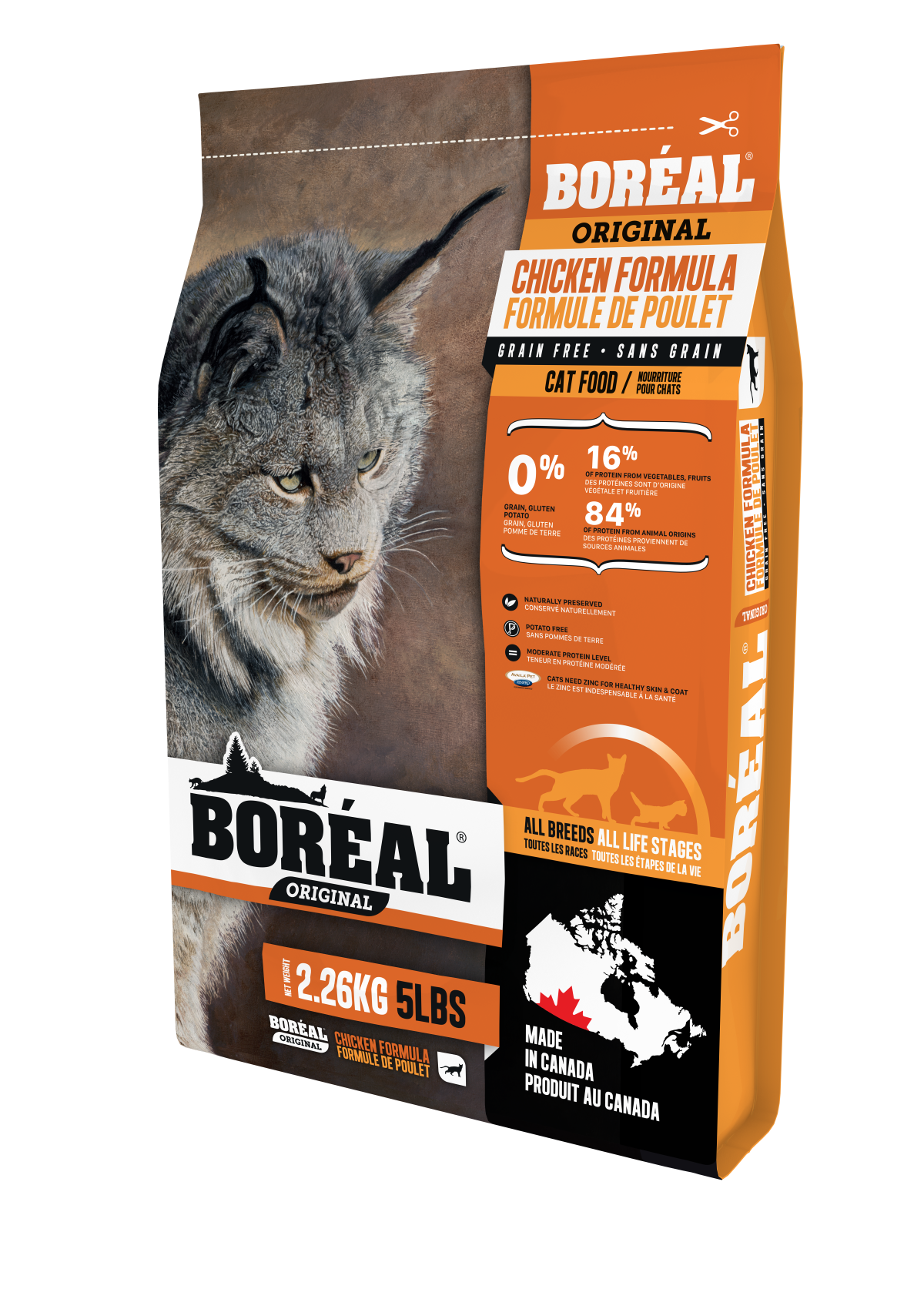 Boreal Grain-Free Original Chicken Grain Free Dry Cat Food, 2.26kg bag