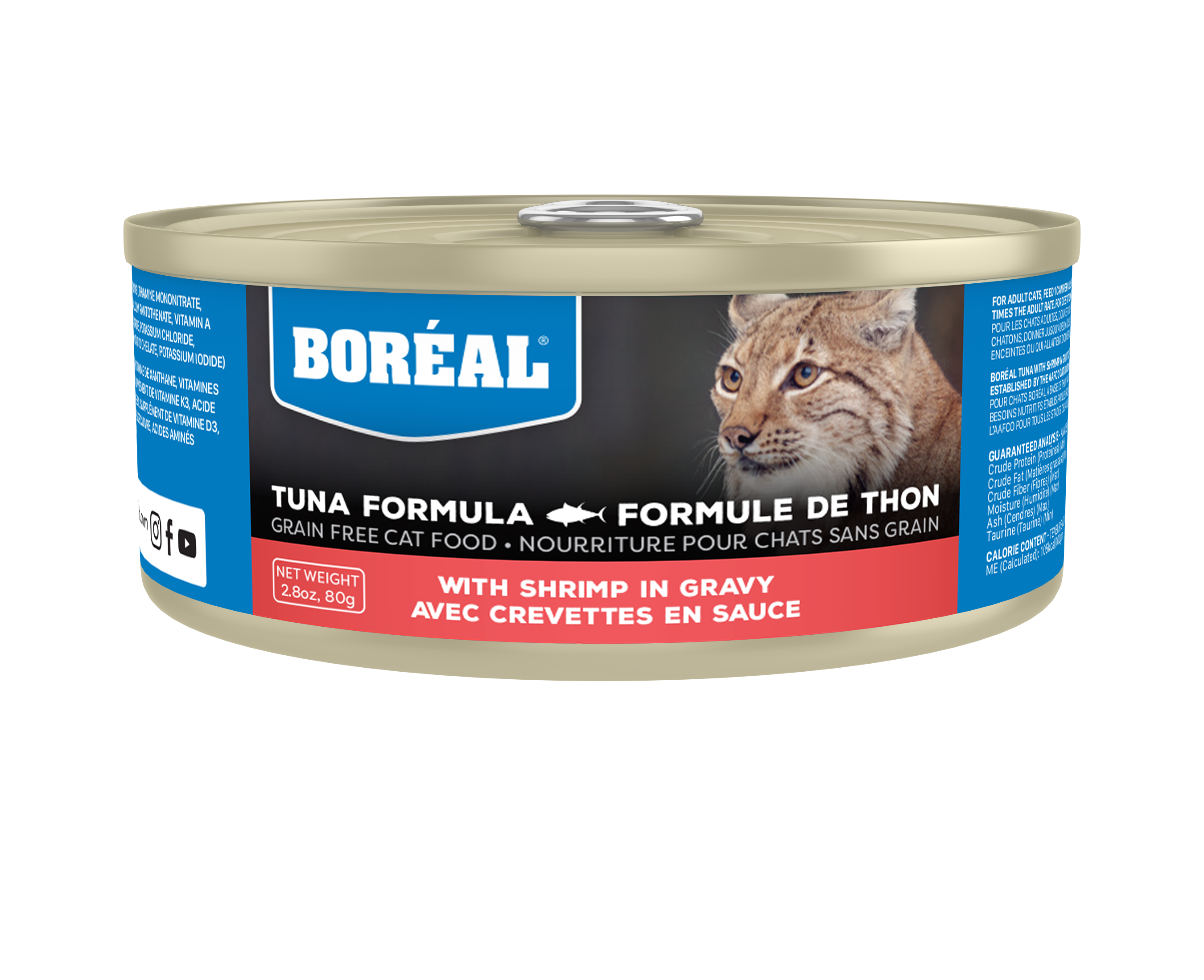 Boreal Red Tuna With Shrimp in Gravy Grain-Free Canned Cat Food, 156-gram