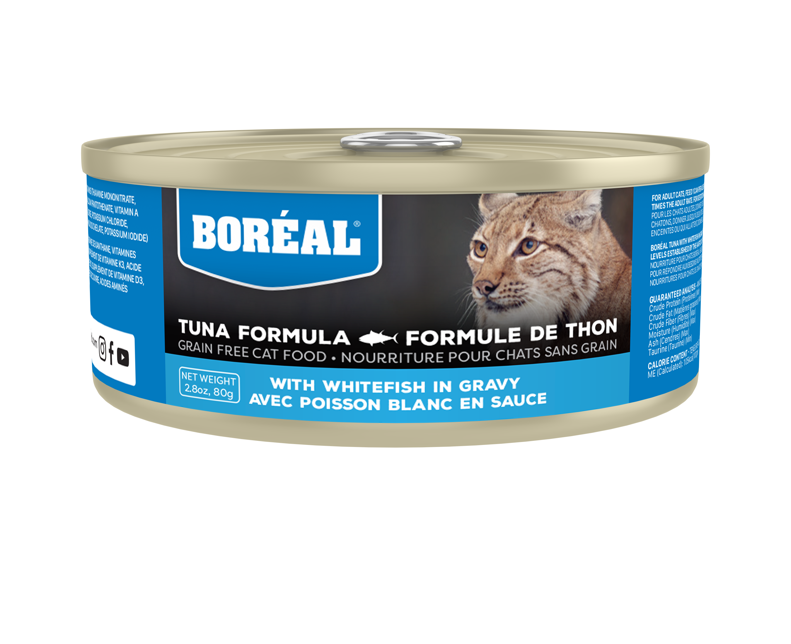 Boreal Red Tuna With Whitefish in Gravy Grain-Free Canned Cat Food, 156-gram