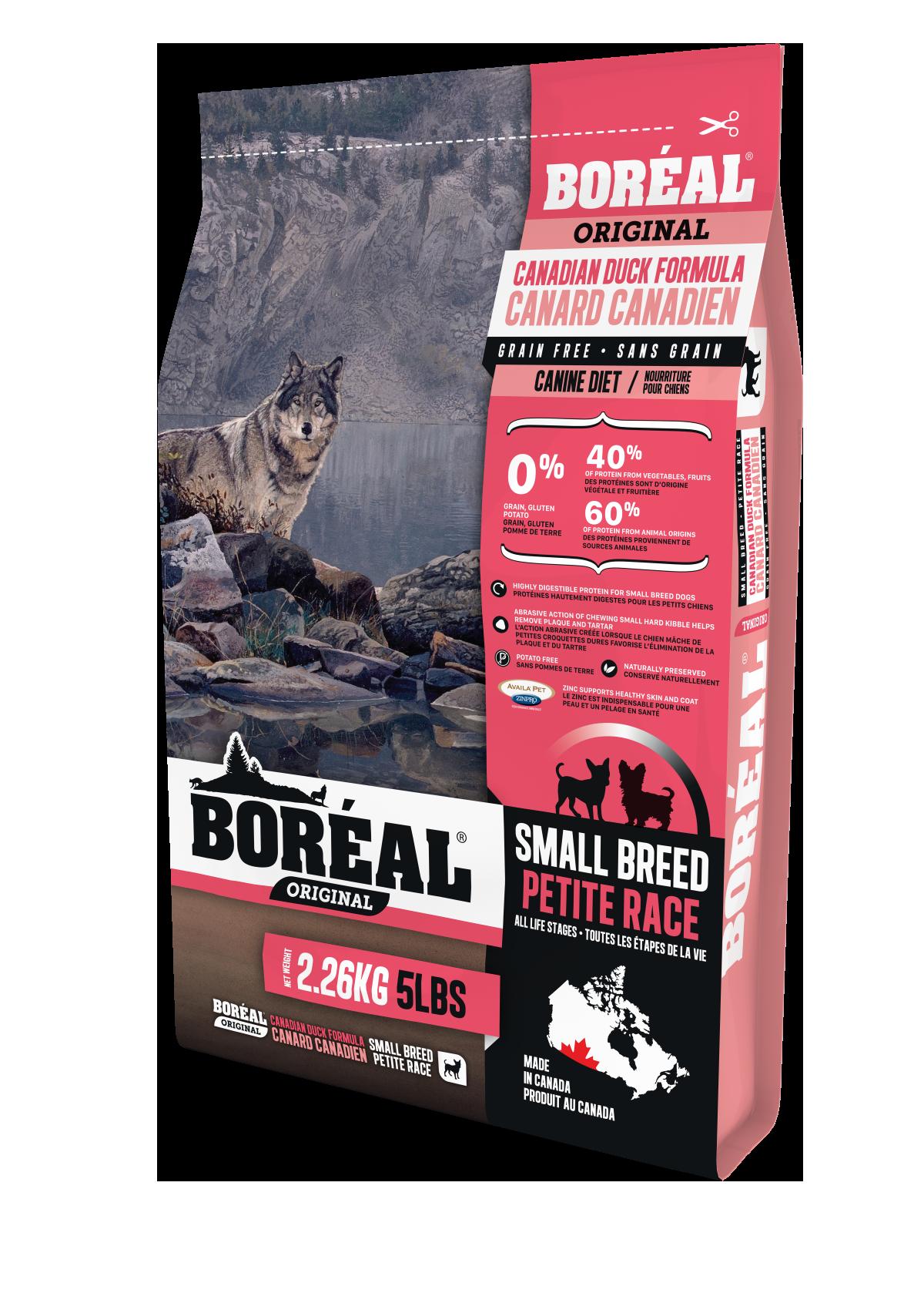 Boreal Original Small Breed Duck - Grain Free Dry Dog Food, 2.26kg bag
