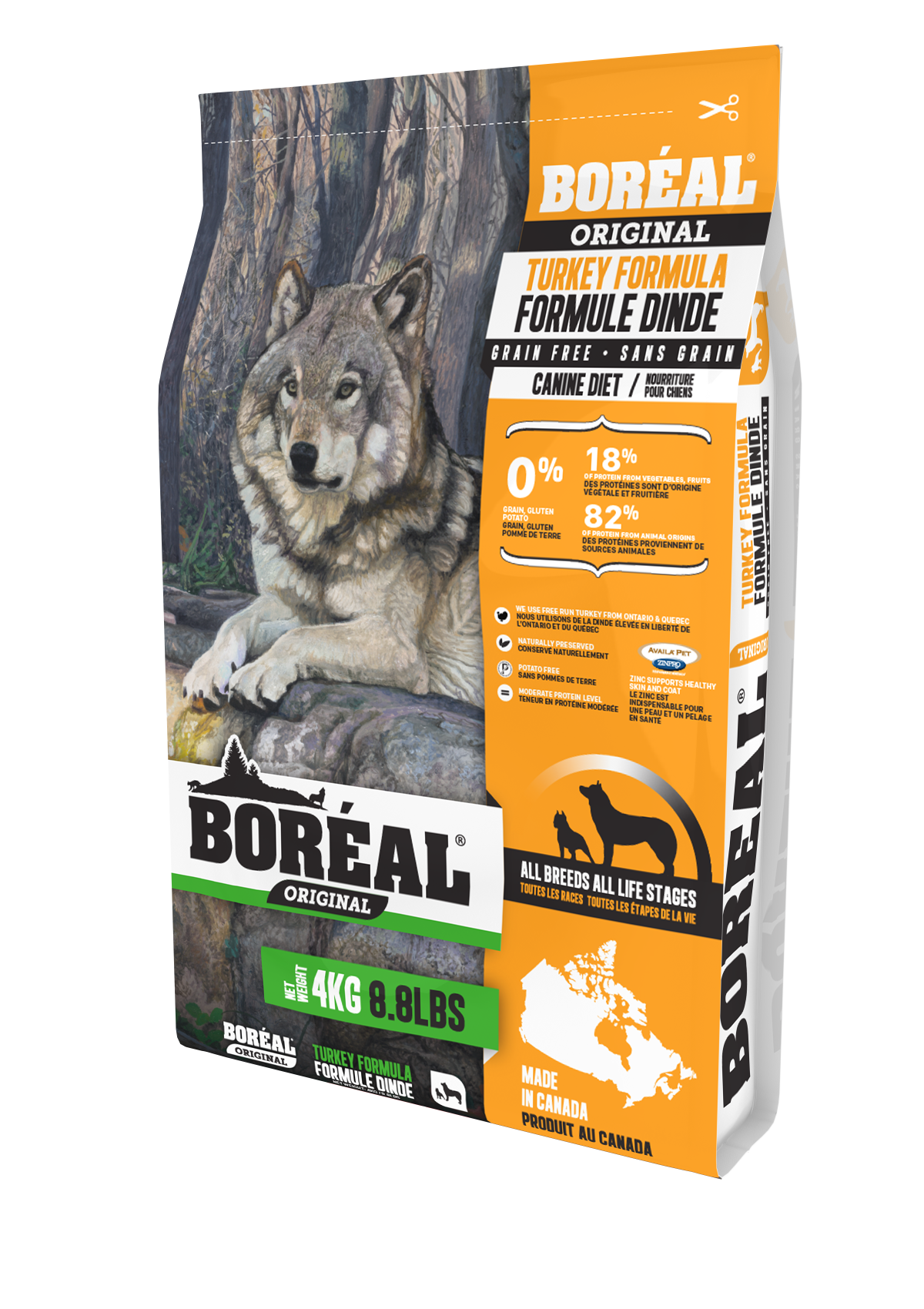 Boreal Original Turkey - Grain Free Dry Dog Food, 4kg bag