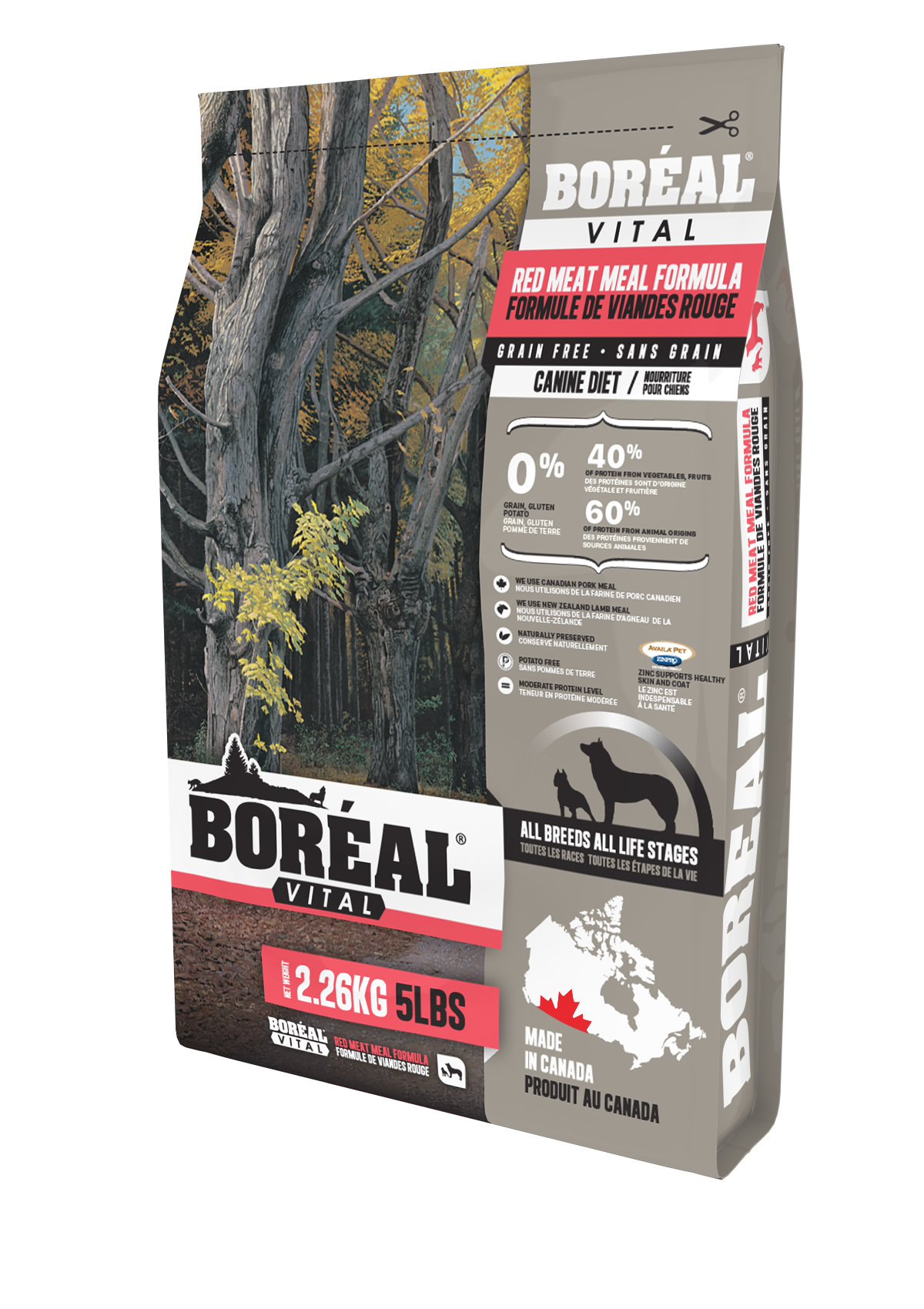 Boreal Vital All Breed Red Meat Meal - Grain Free Dry Dog Food, 11.33kg bag