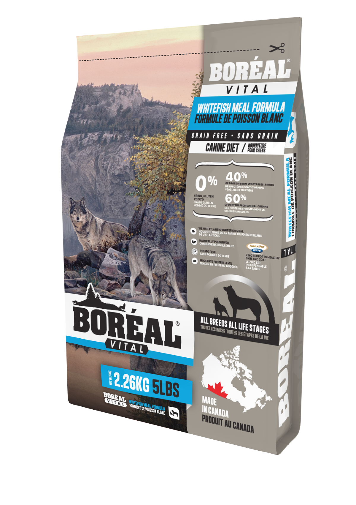Boreal Vital All Breed Whitefish Meal - Grain Free Dry Dog Food, 11.33kg bag