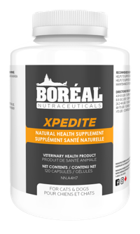 Boreal Nutraceuticals XPEDITE Natural, Anti-Parasitic Cat Health Supplement, 120 count