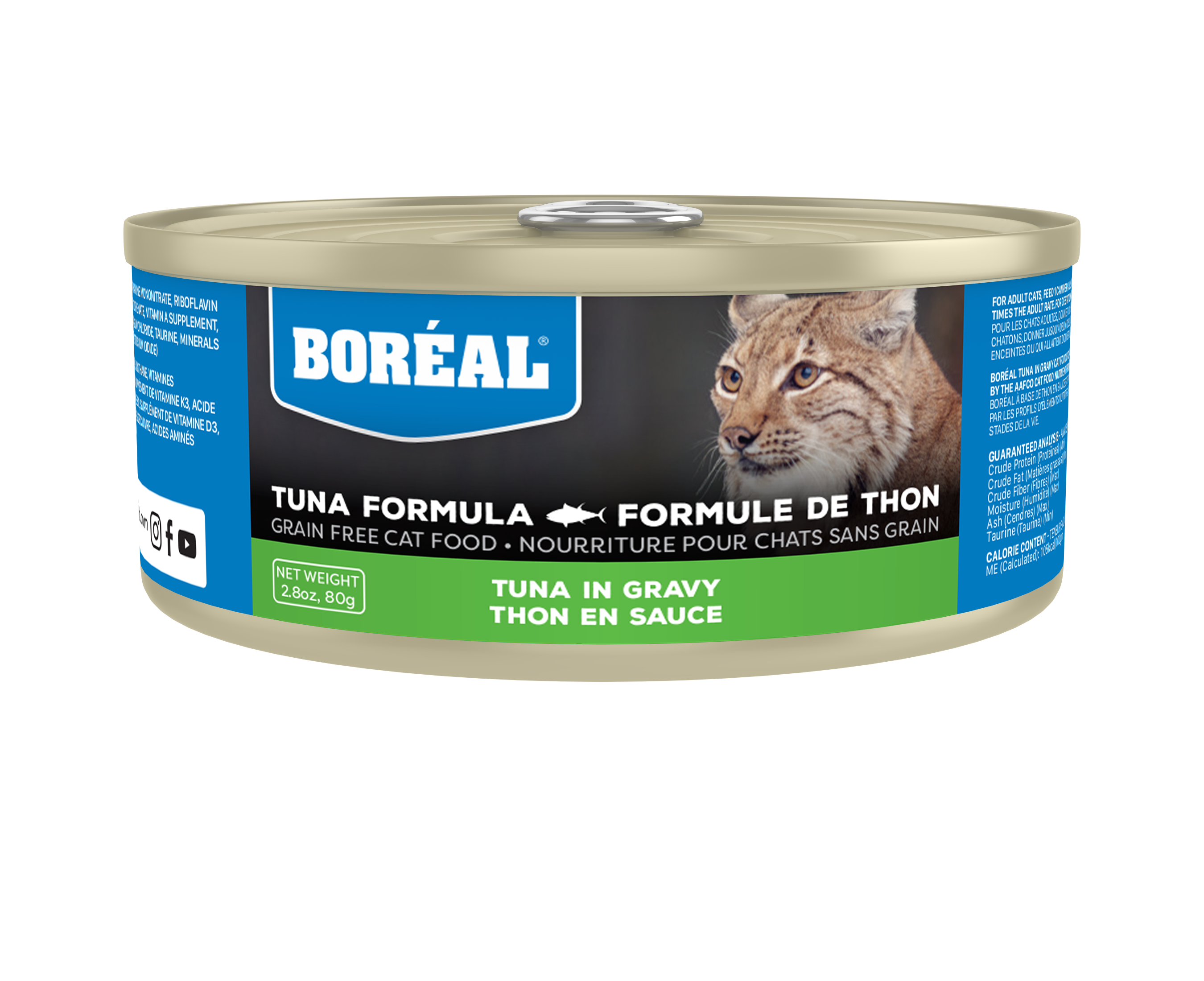 Boreal Red Tuna With Gravy Grain-Free Canned Cat Food, 156-gram