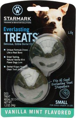Starmark Everlasting Treats Vanilla Mint Flavor Dog Dental Chews, Small