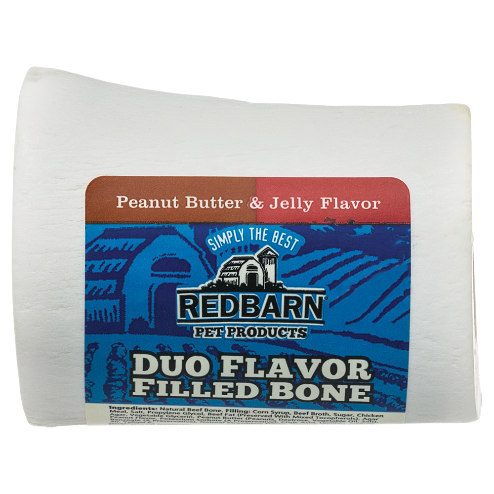 Redbarn Duo Filled Bone, Peanut Butter & Jelly, Small
