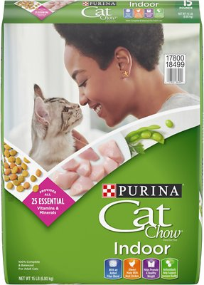 Cat Chow Indoor Dry Cat Food, 15-lb