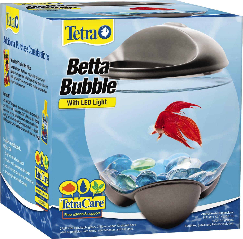 Tetra Betta Bubble Fish Bowl, 0.5-gal