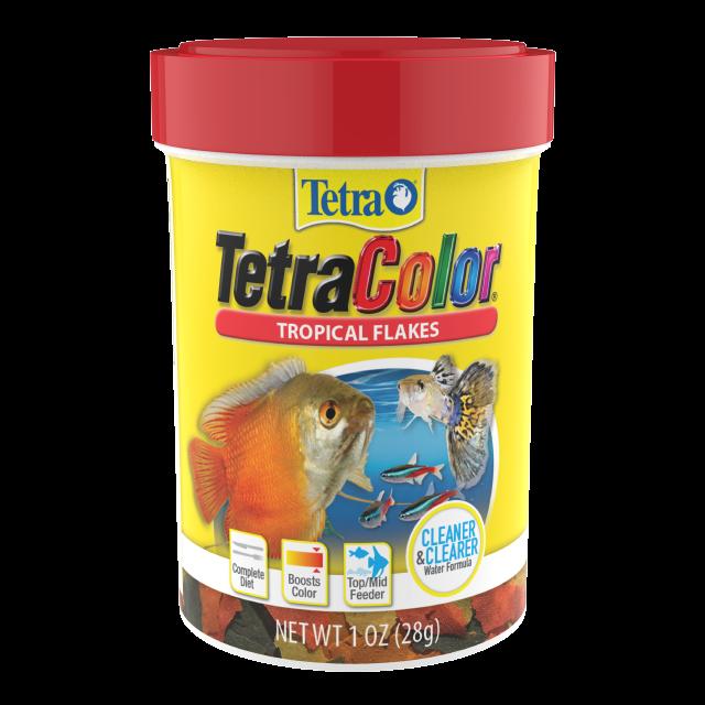 Tetra TetraColor Tropical Flakes Fish Food, 0.42-oz