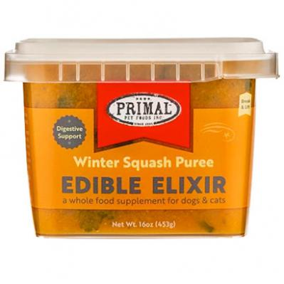 Primal Edible Elixir Winter Squash Puree, Frozen Dog & Cat Food Topper, 16-oz