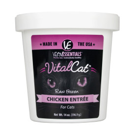 Vital Essentials Vital Cat Chicken Entrée Raw Frozen Cat Food, 14-oz tub