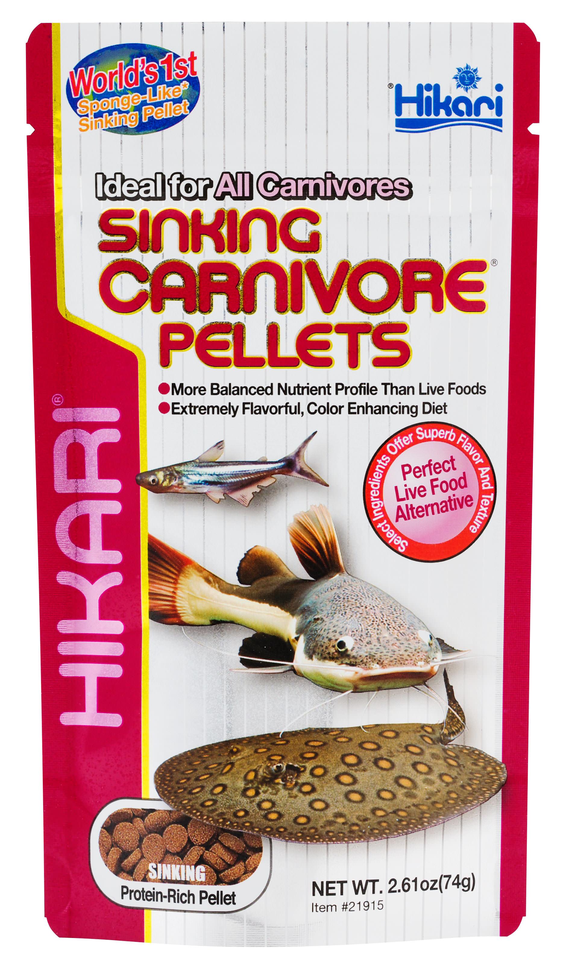 Hikari Sinking Carnivore Pellets Carnivorous Fish Food, 2.61-oz