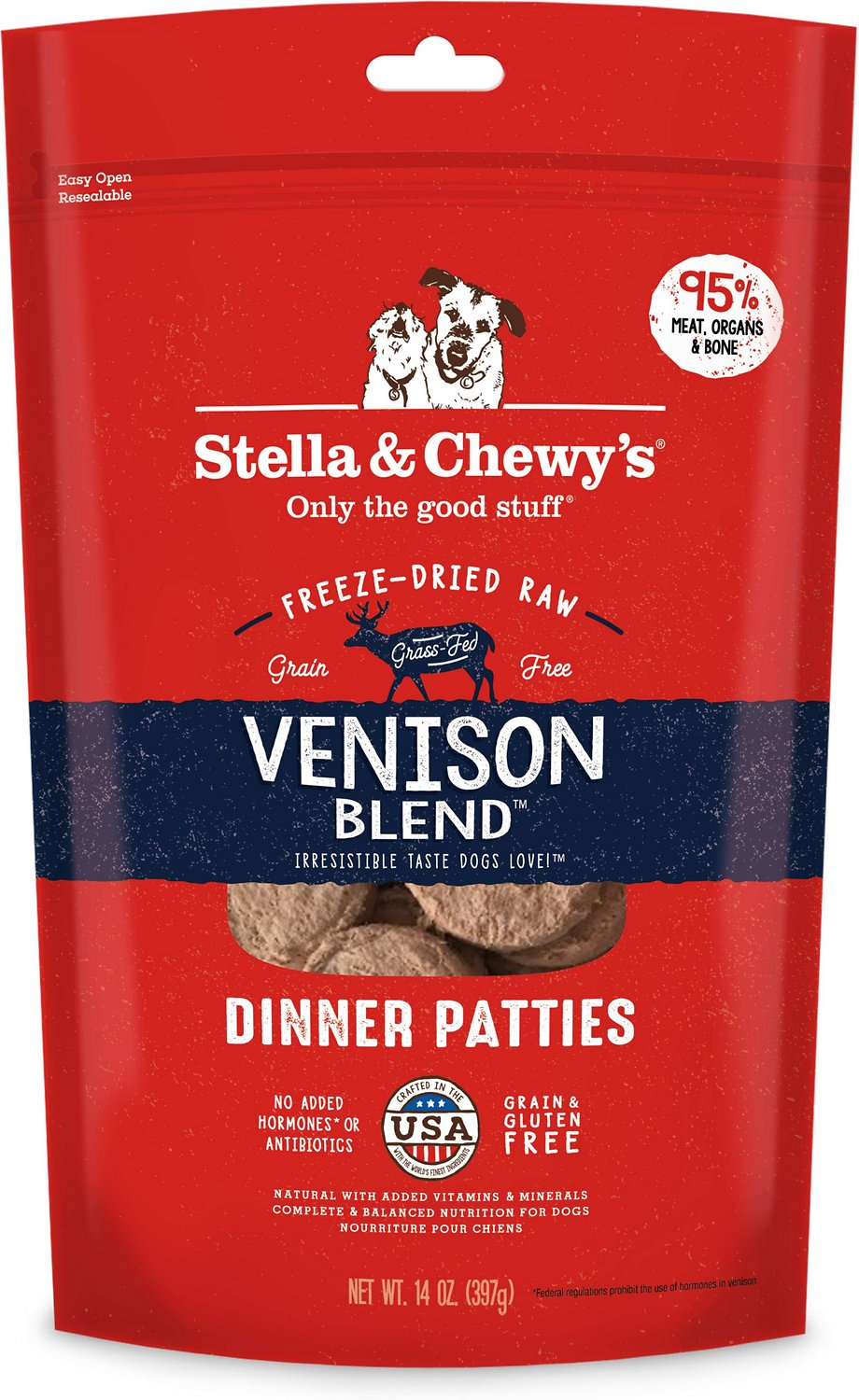 Stella & Chewy's Venison Blend Dinner Patties Grain-Free Freeze-Dried Dog Food Image