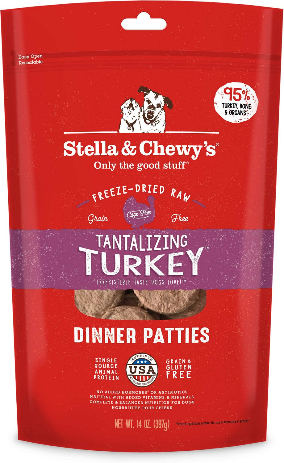 Stella & Chewy's Tantalizing Turkey Dinner Patties Grain-Free Freeze-Dried Dog Food Image
