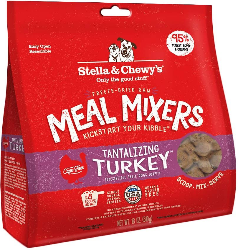 Stella & Chewy's Tantalizing Turkey Meal Mixers Grain-Free Freeze-Dried Dog Food Image