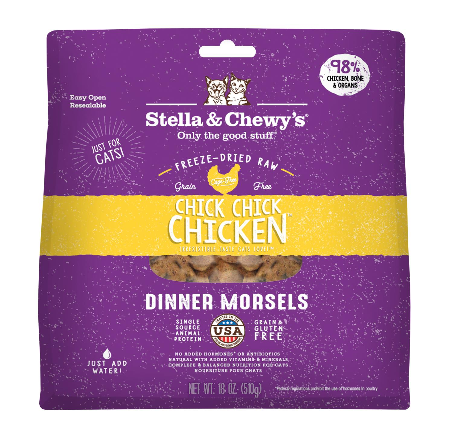 Stella & Chewy's Chick Chick Chicken Dinner Freeze-Dried Cat Food, 18-oz