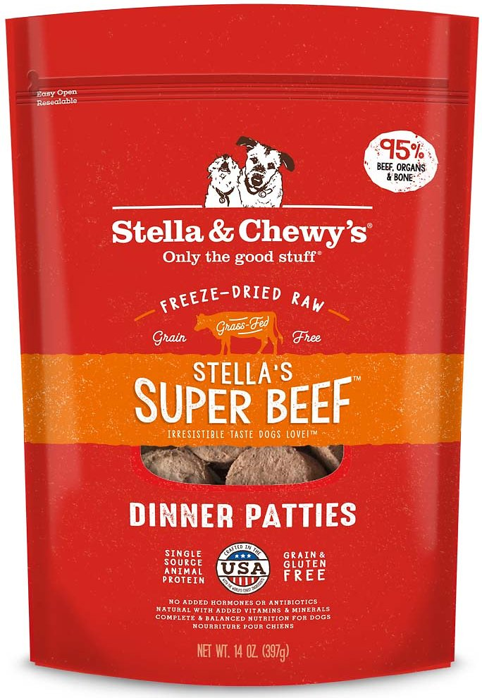 Stella & Chewy's Stella's Super Beef Dinner Patties Grain-Free Freeze-Dried Dog Food Image