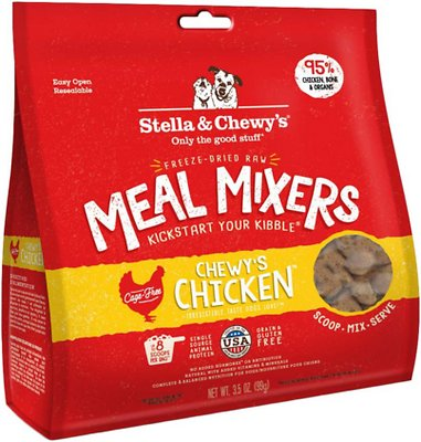 Stella & Chewy's Chewy's Chicken Meal Mixers Grain-Free Freeze-Dried Dog Food, 3.5-oz bag Size: 3.5-oz bag, Weights: 3.5 ounces