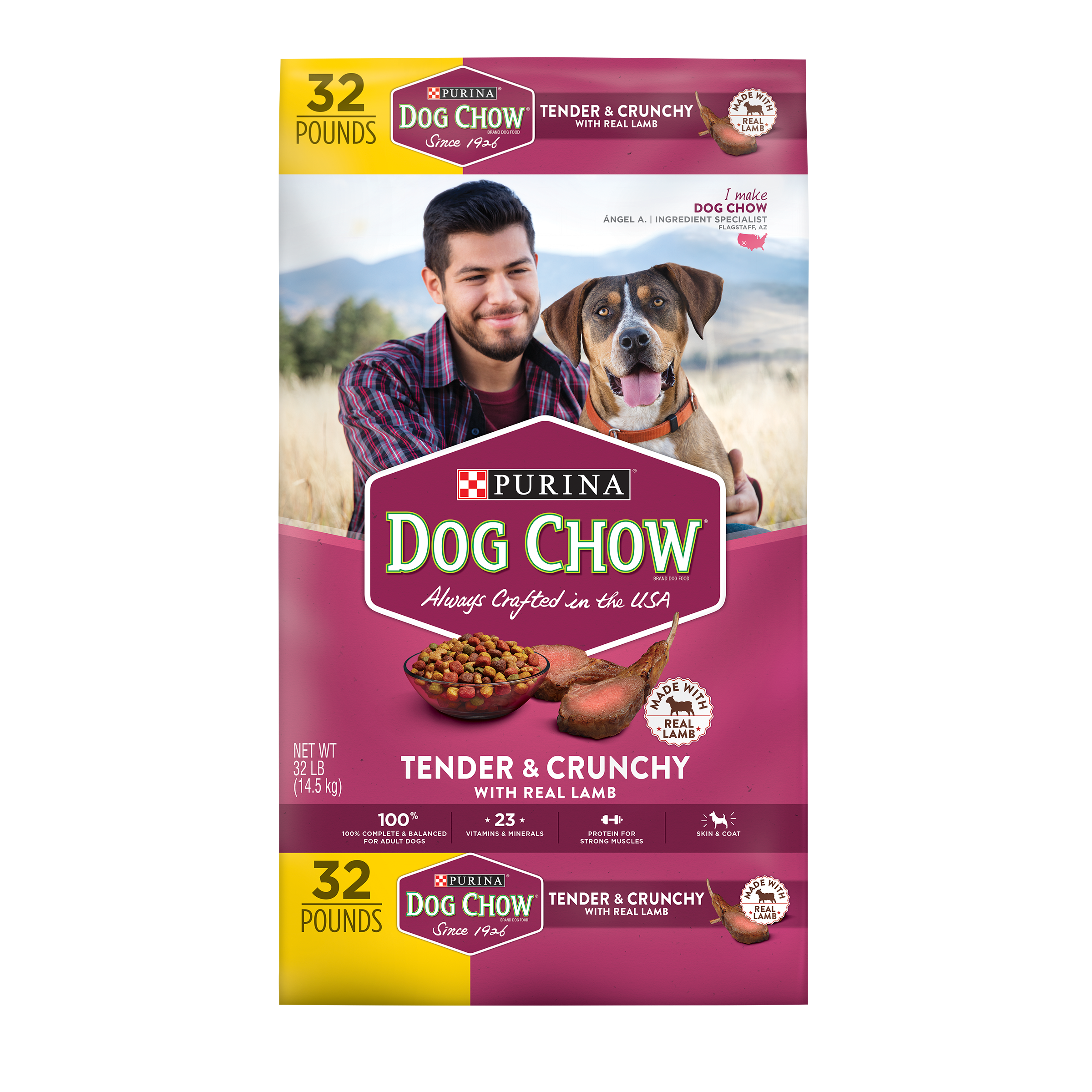 Dog Chow Tender & Crunchy with Real Lamb Dry Dog Food, 32-lb