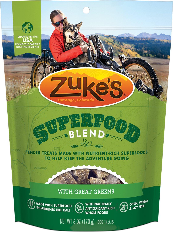 Zuke's SuperFood Blend with Great Greens Dog Treats, 6-oz bag