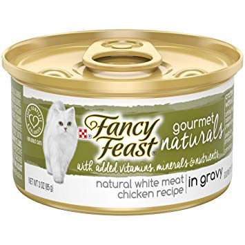 Fancy Feast Gourmet Naturals White Meat Chicken Recipe in Gravy Canned Cat Food, 3-oz