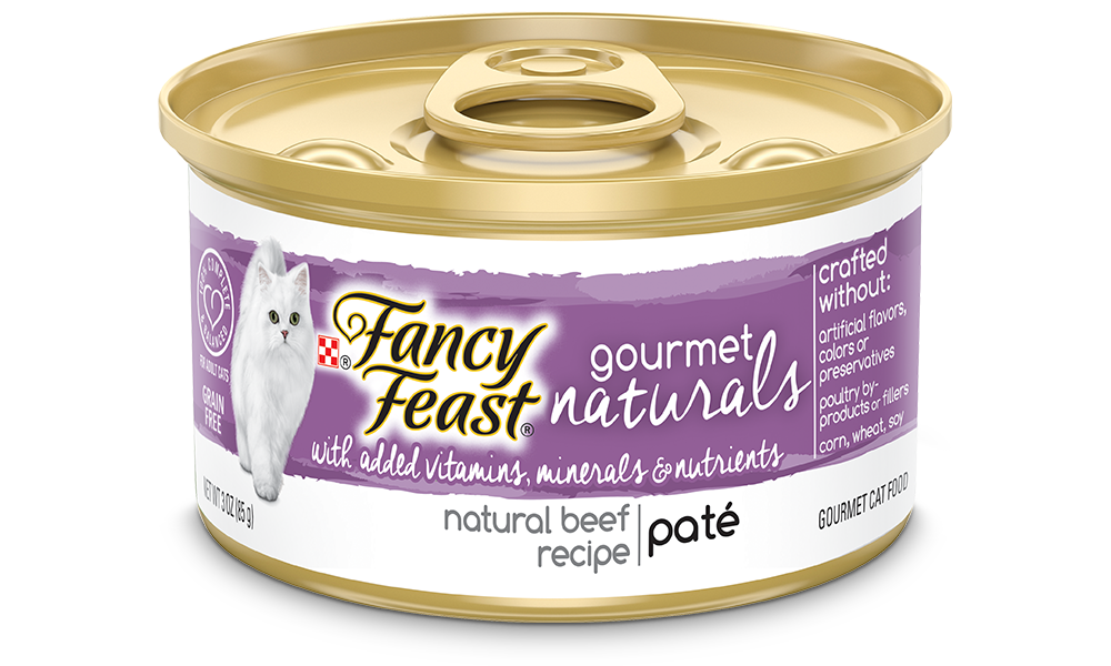 Fancy Feast Gourmet Naturals Beef Recipe Pate Canned Cat Food Image