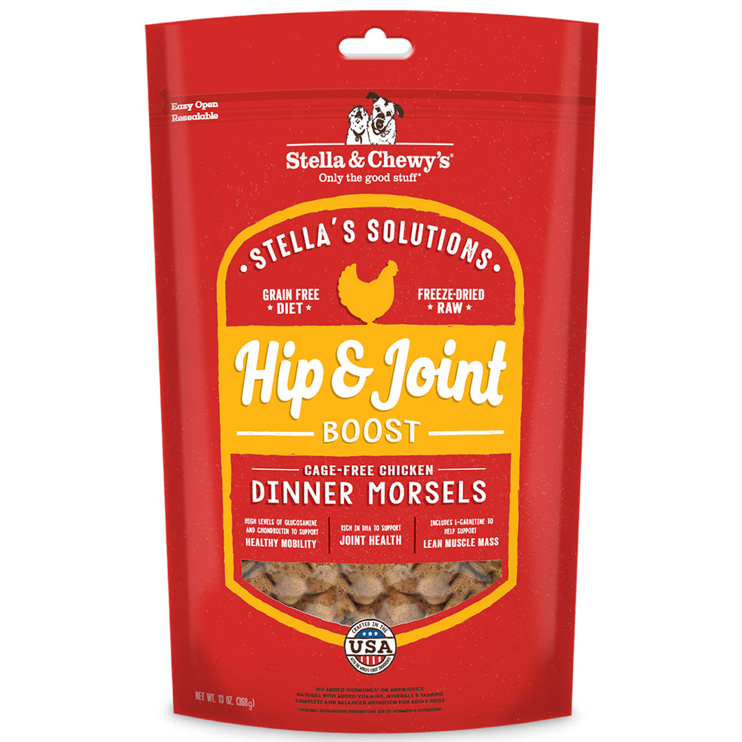 Stella & Chewy's Hip & Joint Boost Freeze Dried Dog Food, Cage-Free Chicken, 13-oz