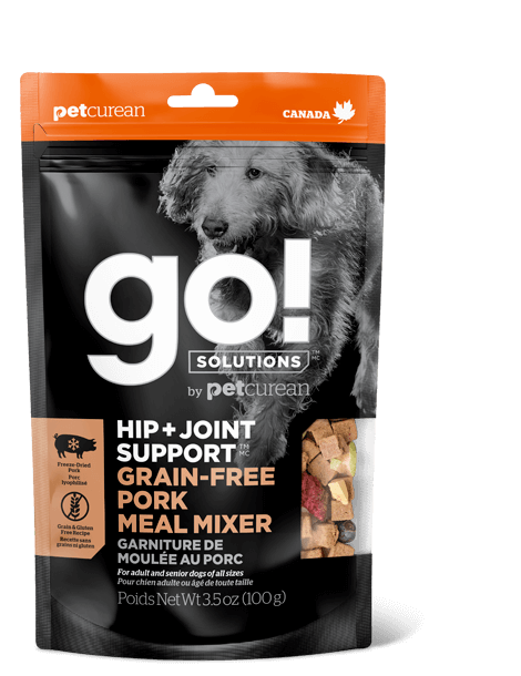 Go! Hip + Joint Support Grain-Free Pork Meal Mixer Freeze-Dried Dog Food Topper Image