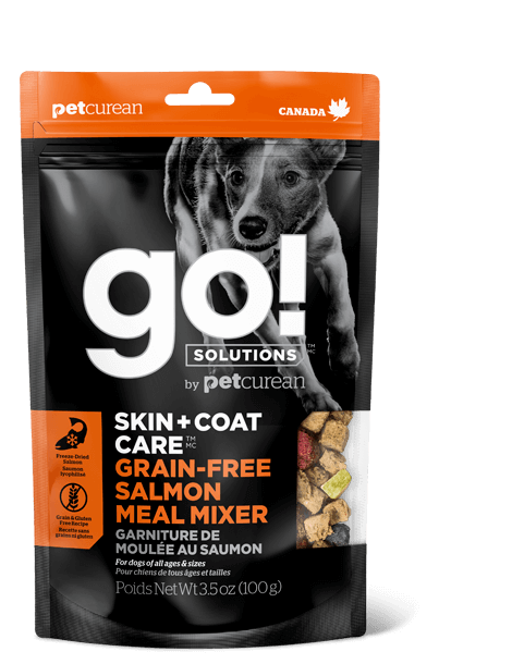 Go! Solutions Skin + Coat Care Grain-Free Salmon Meal Mixer Freeze-Dried Dog Food Topper Image
