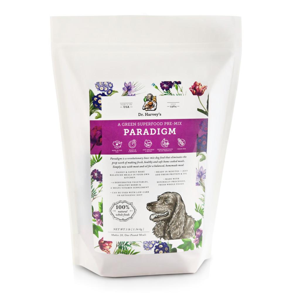 Dr. Harvey's Paradigm, Green Superfood Pre-Mix Dog Food Mix, 3-lb bag