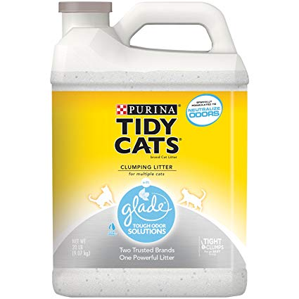 Tidy Cats Glade Tough Odor Solutions Clumping Cat Litter, 20-lb