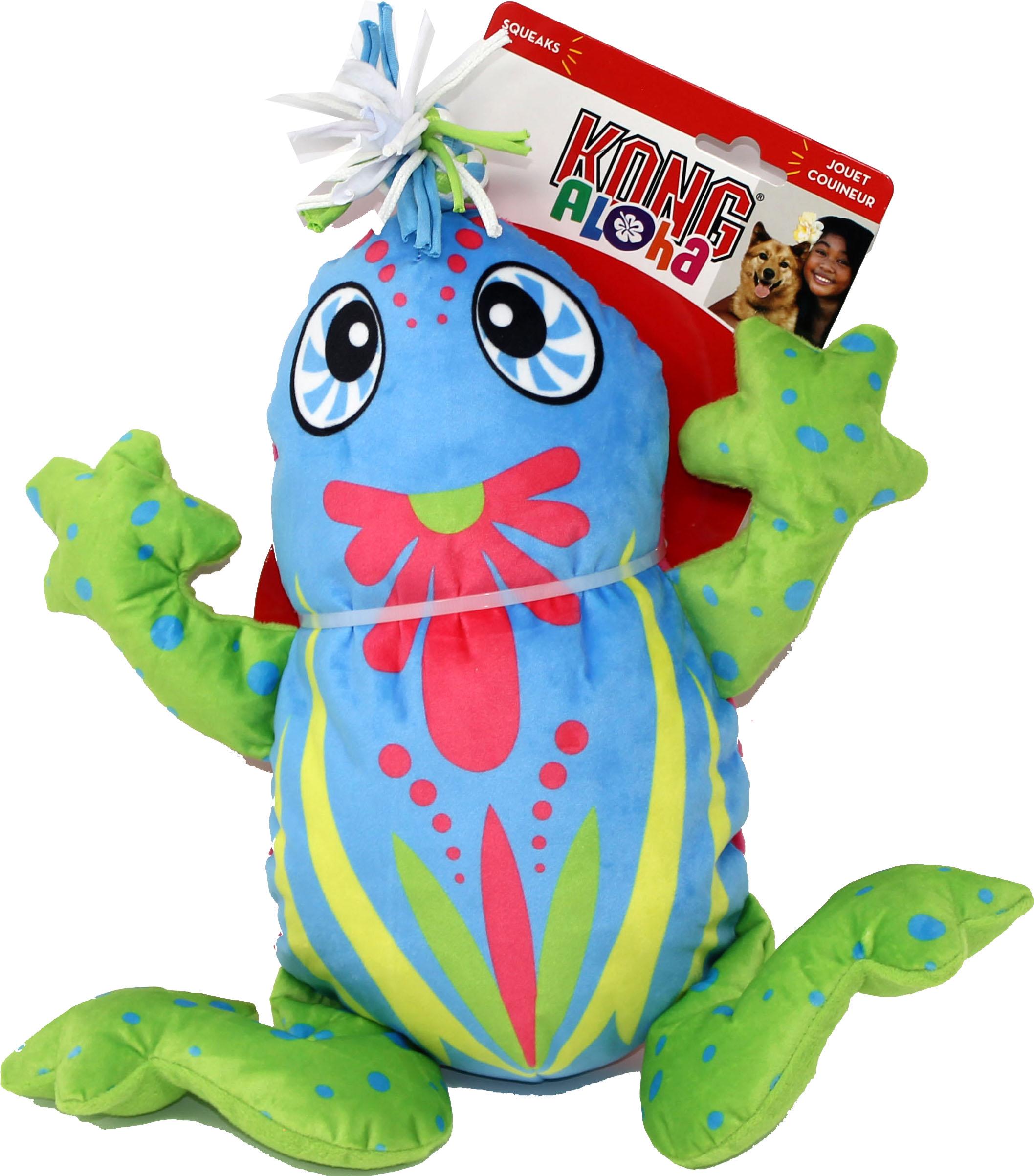 KONG Aloha Frog Tug Dog Toy, Blue, Large/X-Large