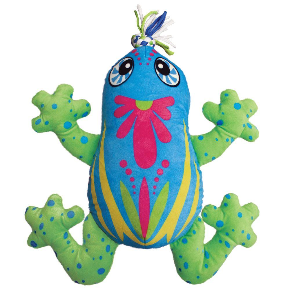 KONG Aloha Frog Dog Toy, Small/Medium