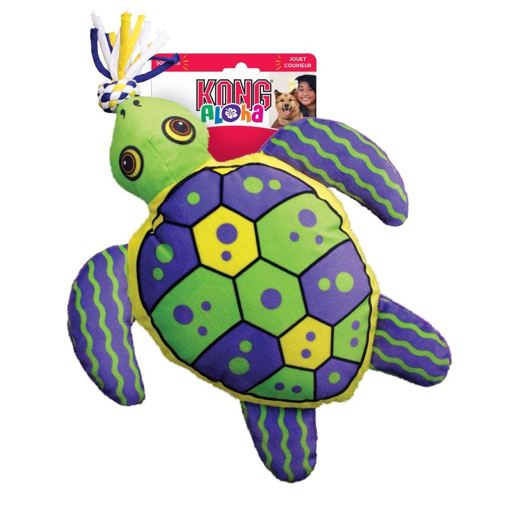 KONG Aloha Turtle Tug Dog Toy, Green, Small/Medium
