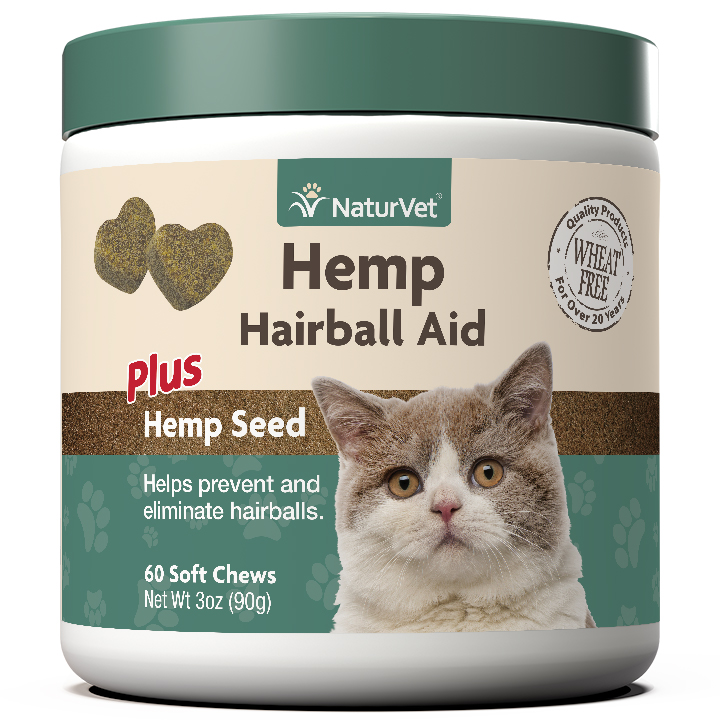 Naturvet H Hairball Aid Soft Chews for Cats