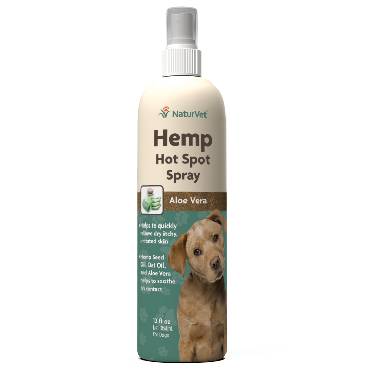 Naturvet Hemp Hot Spot Itch Relief Spray for Dogs