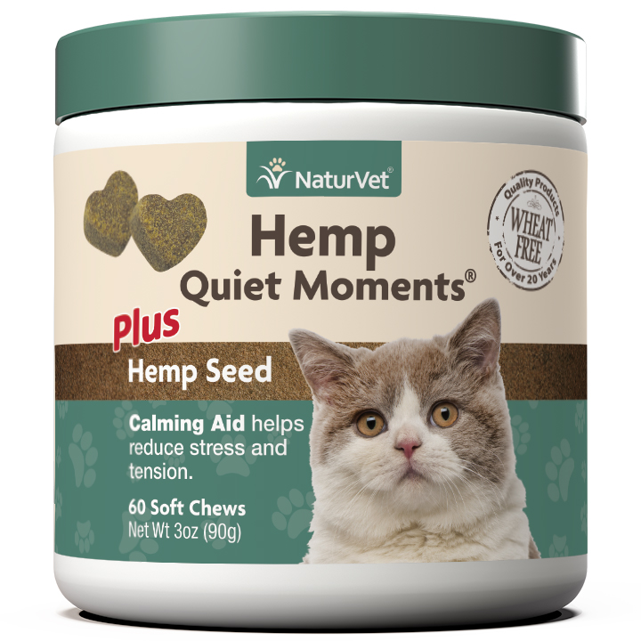 Naturvet H Quiet Moments Calming Aid Soft Chews for Cats, 60-count