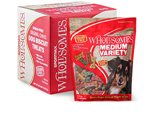 Sportmix Wholesomes Variety Biscuit Dog Treats, 20-lb, Medium