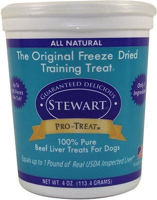 Stewart Pro-Treat Beef Liver Freeze-Dried Dog Treats, 4-oz tub
