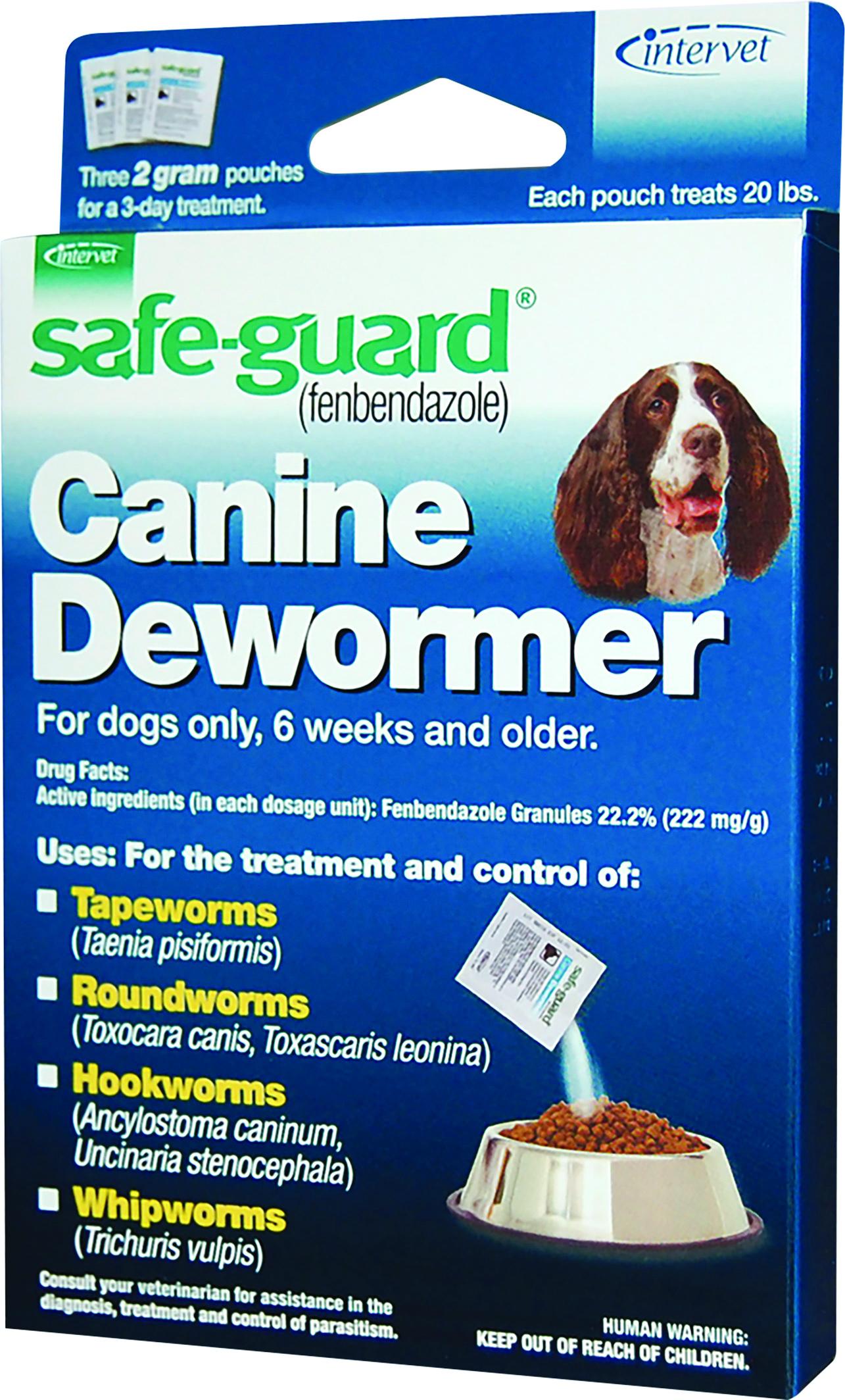 Merck Safeguard Canine Dewormer for Dogs, 20-lb, 3-pk