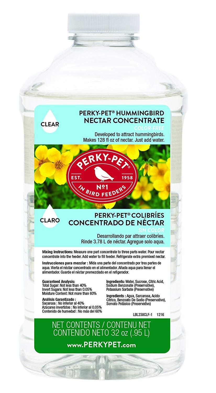 Perky-Pet Hummingbird Nectar Concentrate Liquid, Clear, 32-oz