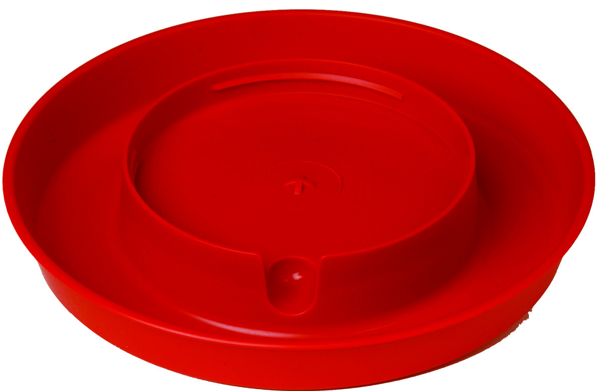 Miller Little Giant Screw-On Poultry Waterer Base, Red, 1-gallon