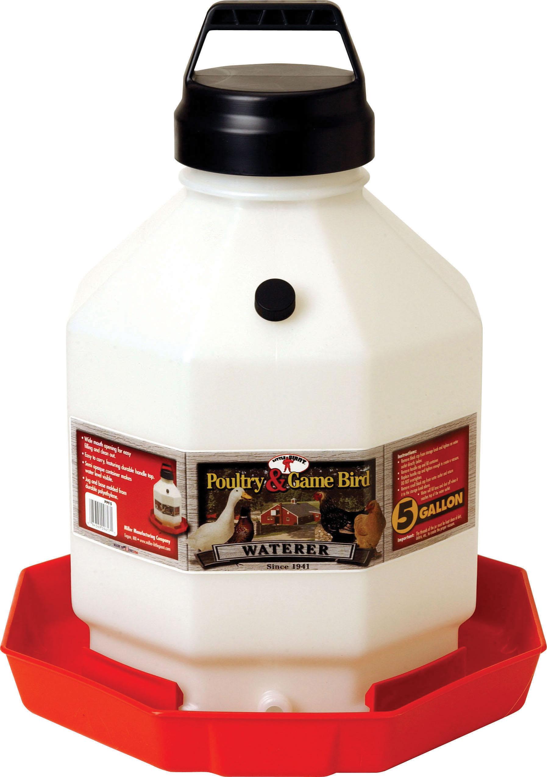 Miller Little Giant Plastic Poultry Waterer