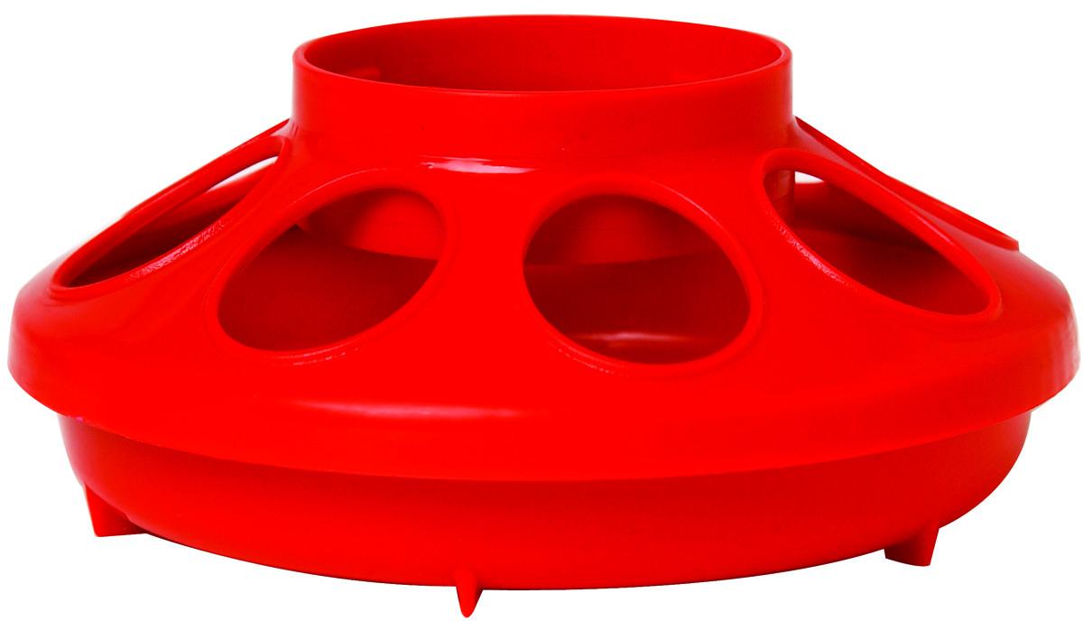 Miller Little Giant Plastic Poultry Feeder Base, Red, 1-quart