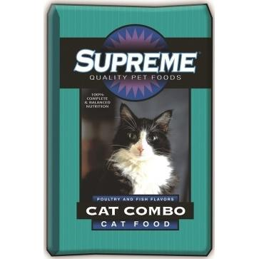 Supreme by Tuffy's Cat Combo Poultry and Fish Flavor Dry Cat Food, 16-lb bag