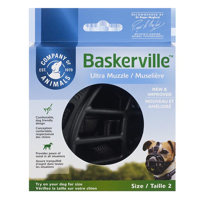 The Company of Animals Baskerville Ultra Dog Muzzle, Black, 1